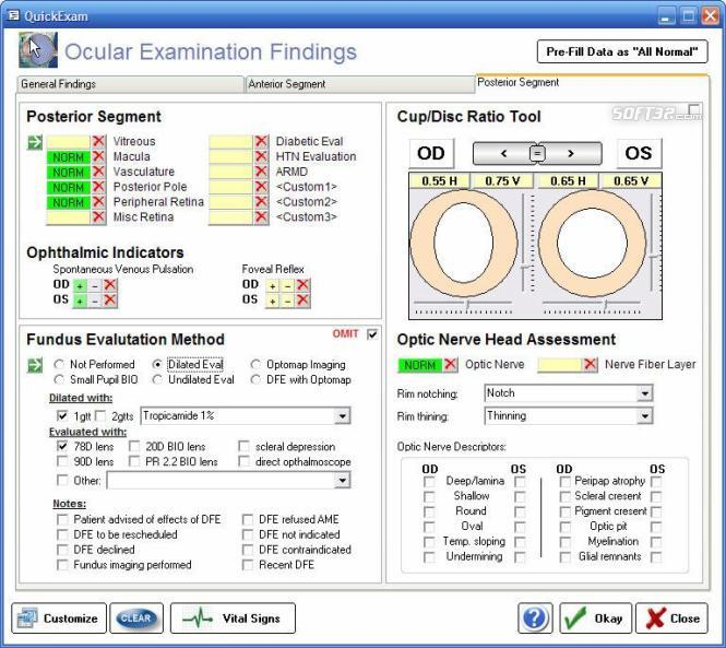Ophthalmic EMR - ezChartWriter Screenshot 2