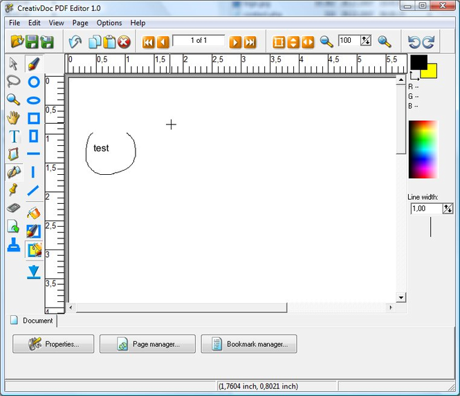 CreativDoc PDF Editor Screenshot