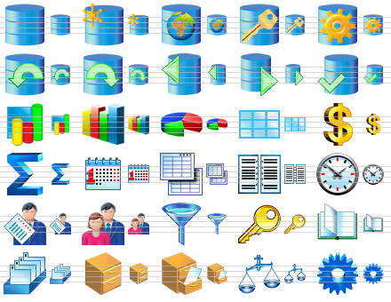 Database Software Icons Screenshot 1