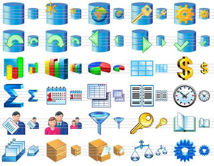 Database Software Icons Screenshot 1