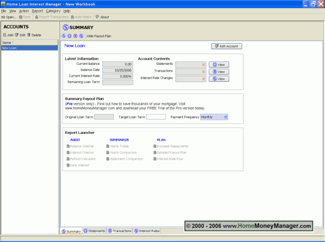 Mortgage Loan Interest Manager Lite Mac Screenshot