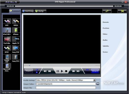 Acala DVD Ripper Professional Screenshot 3