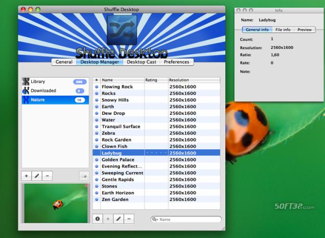 Shuffle Desktop Screenshot