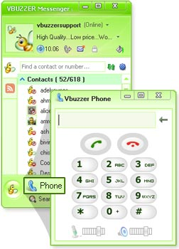 Vbuzzer Messenger Screenshot