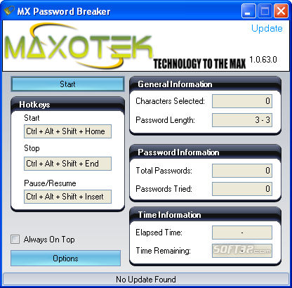MX Password Breaker Screenshot 1