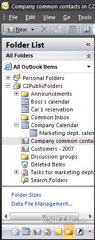 CodeTwo Public Folders Screenshot 3