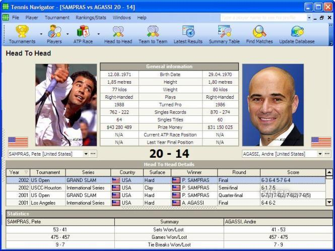Tennis Navigator ATP Edition Screenshot 3