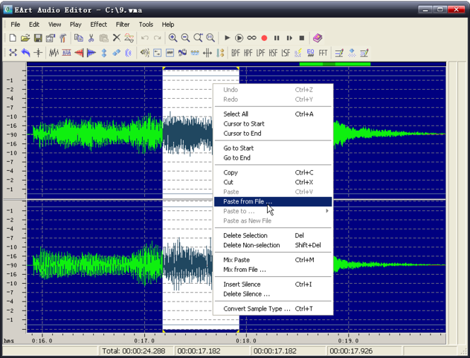 EArt Audio Editor Screenshot 1
