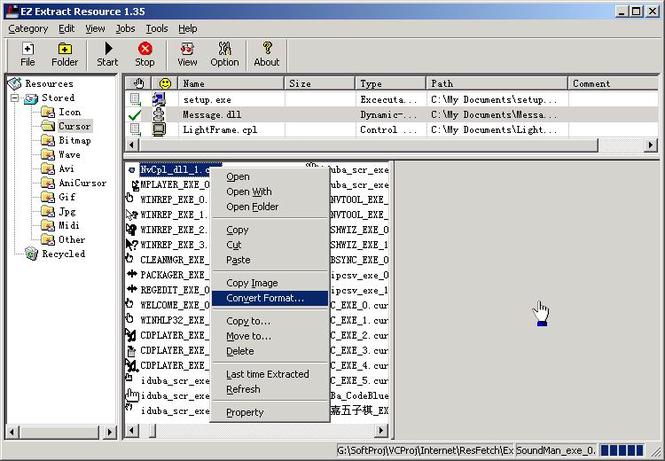 EZ Extract Resource Screenshot