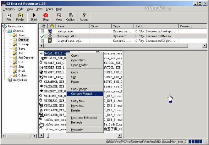 EZ Extract Resource Screenshot 2
