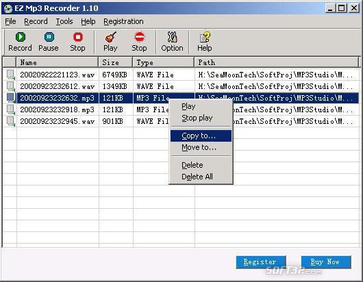 EZ Mp3 Recorder Screenshot 2
