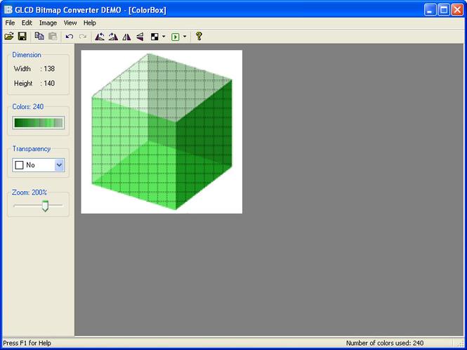 GLCD Bitmap Converter Screenshot
