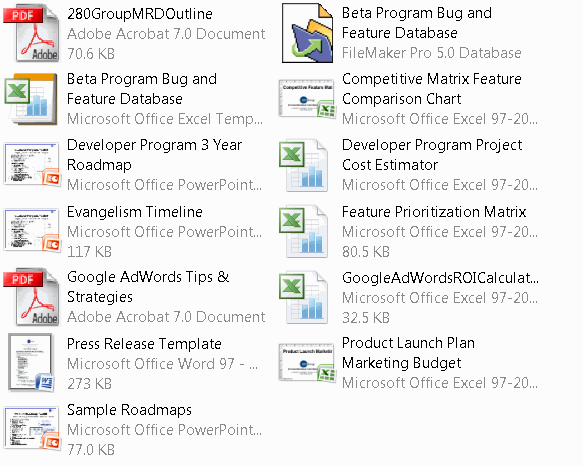 Marketing Templates Screenshot