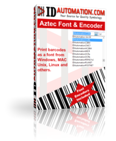IDAutomation Aztec Font and Encoder Screenshot