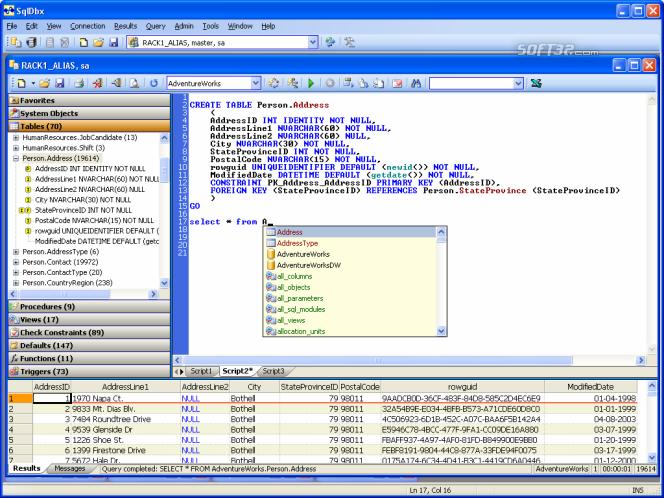 SqlDbx Screenshot 2
