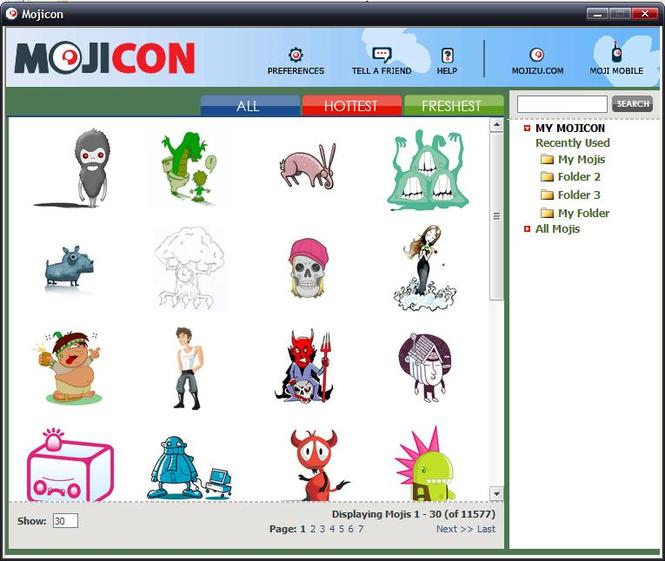 Mojicon Dispenser Screenshot 1