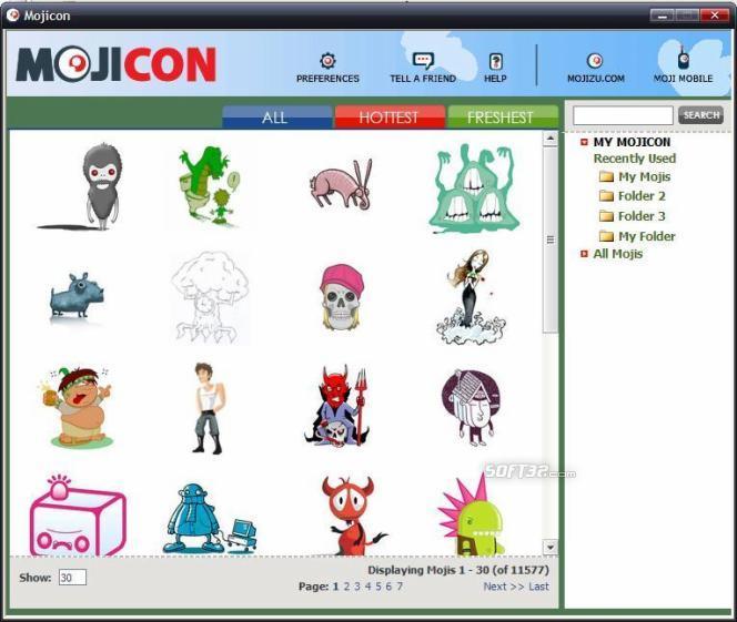 Mojicon Dispenser Screenshot 2