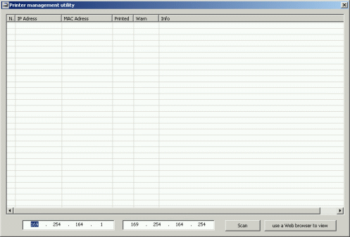 Printer Management & Diagnostics utility Screenshot