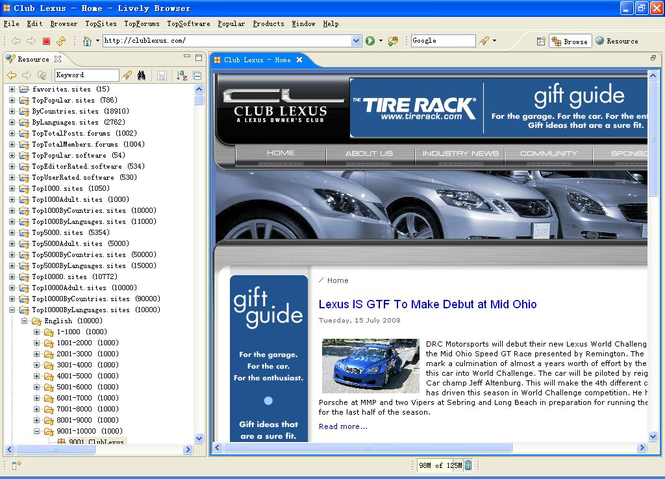Lively Browser Standard Screenshot