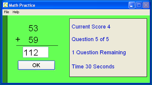 Math Flash Screenshot