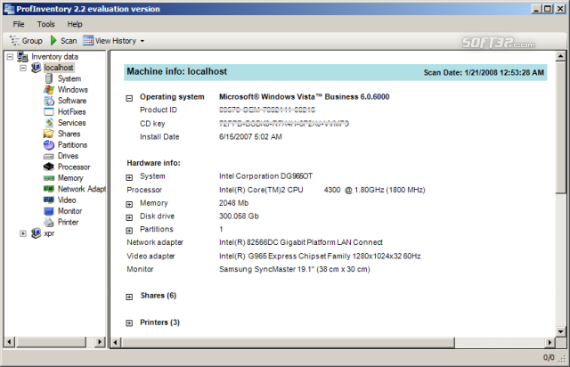 Prof Inventory Screenshot 3