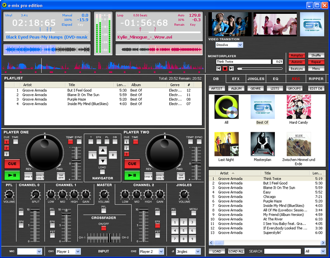 e-mix Home Edition Screenshot