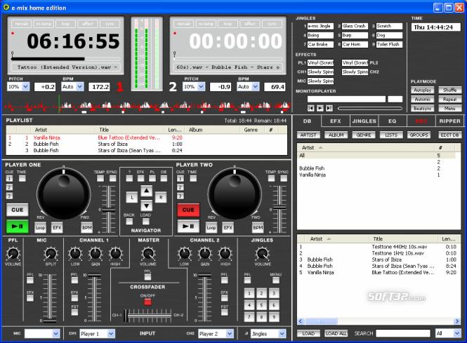 e-mix Home Edition Screenshot 3