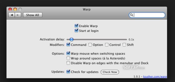 Warp Screenshot