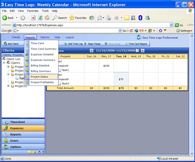 Easy Time Logs Pro Screenshot