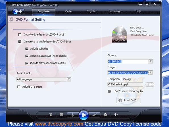 Extra DVD Copy Screenshot