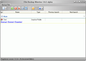 File Backup Watcher 3 Professional Screenshot