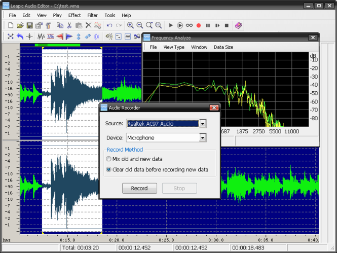 Leapic Audio Editor Screenshot 1