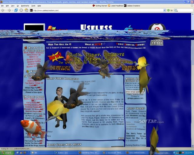 3D Desktop Aquarium Screen Saver Screenshot 1