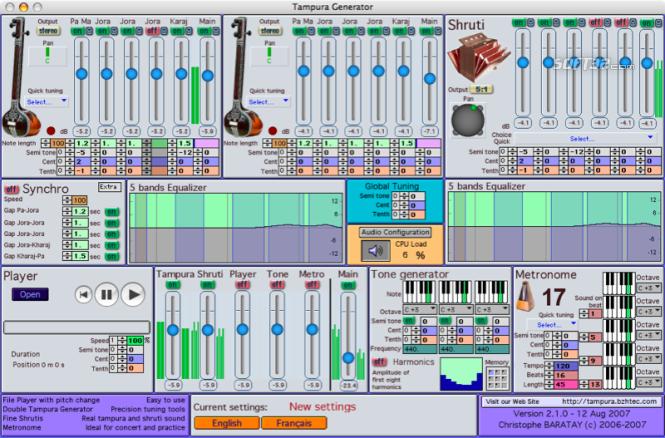 Tampura Generator Screenshot