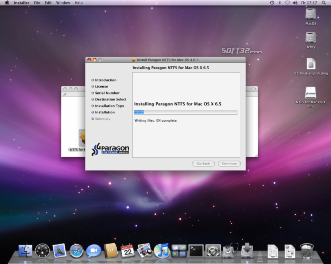 Paragon NTFS for Mac OS X Screenshot