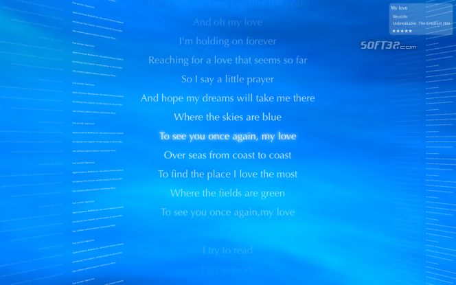 nLyrics Screenshot 2