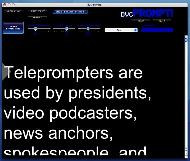 dvcPrompt! Screenshot