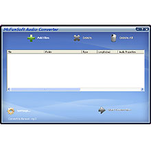 McFunSoft Audio Converter Screenshot 1