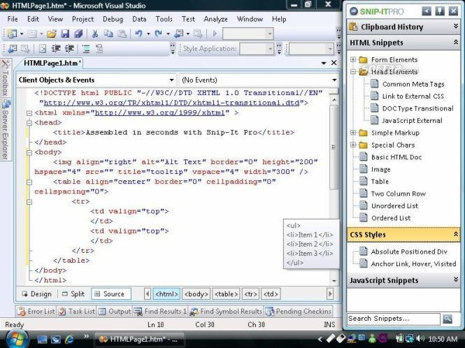 Snip-It Pro, A Code Snippet Manager Screenshot 2