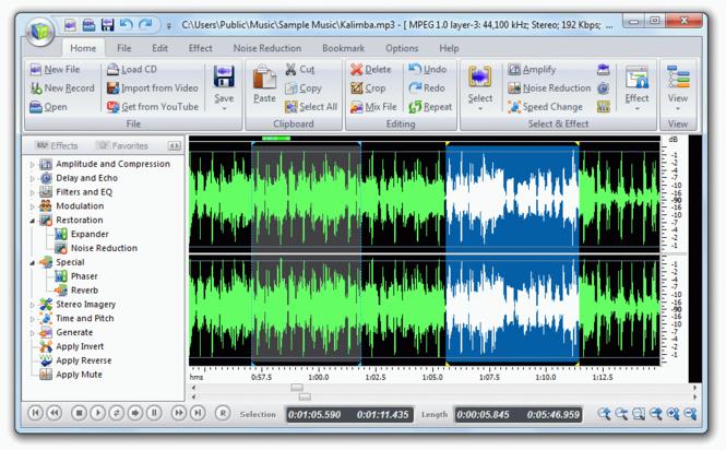 Mp3 Audio Editor 2009 Screenshot