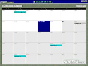 Milestones Calendar Screenshot 3