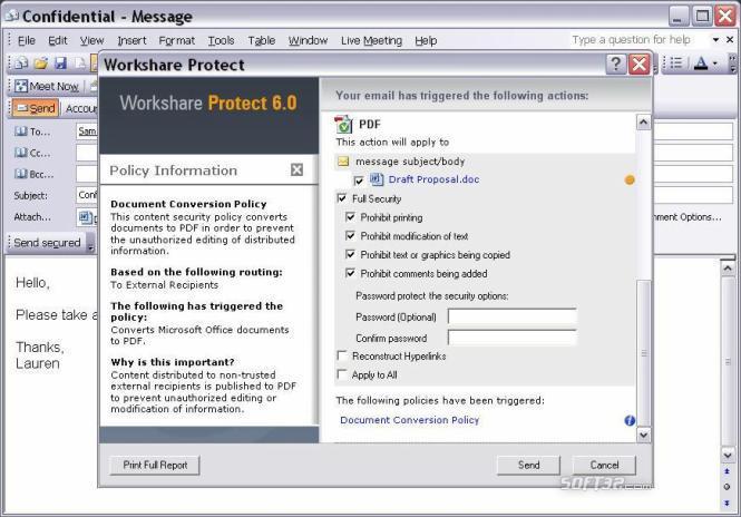 Workshare Protect Premium Screenshot 3