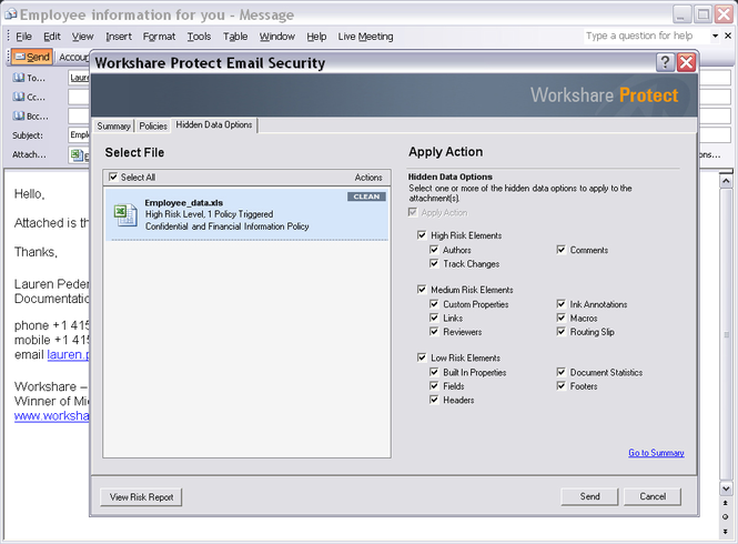 Workshare Protect Premium Screenshot