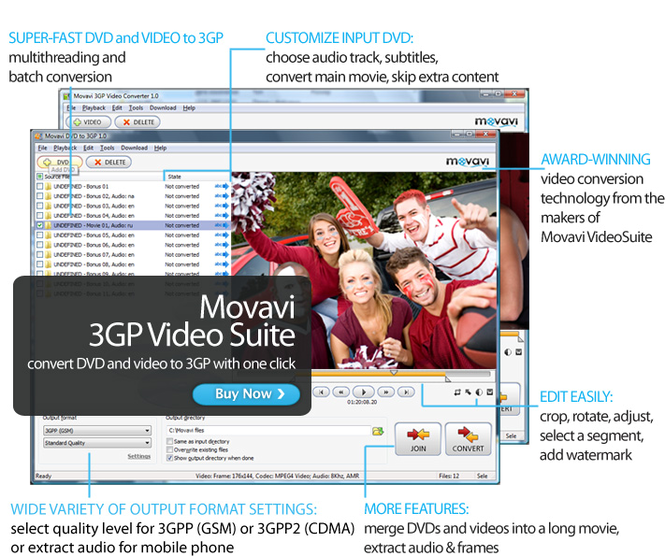 Movavi 3GP Video Suite Screenshot
