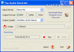 Tau Audio Recorder Screenshot 3