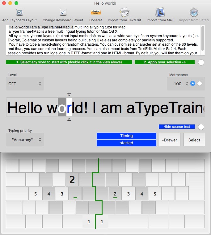 aTypeTrainer4Mac Screenshot 2