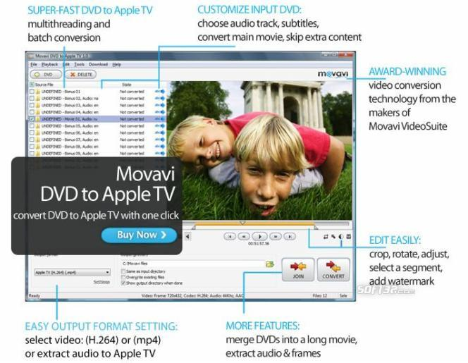 Movavi DVD to Apple TV Screenshot 3