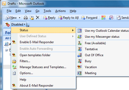E-mail Responder for Outlook Screenshot