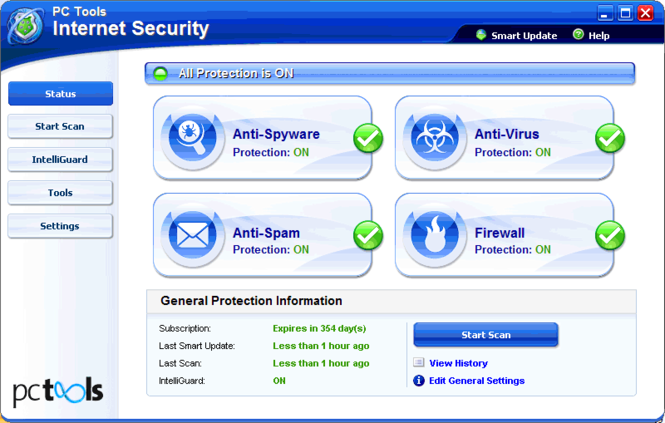 Internet Security Screenshot