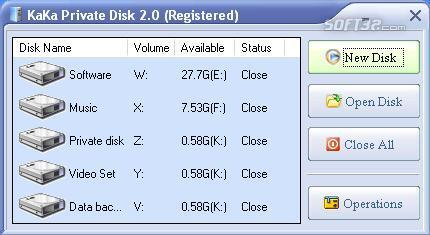 KaKa Private Disk Screenshot 1